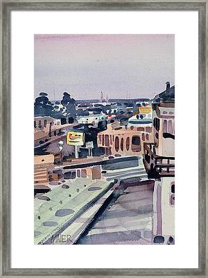 Evening In Belmont Framed Print by Donald Maier