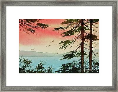 Framed Print featuring the painting Evening Light by James Williamson