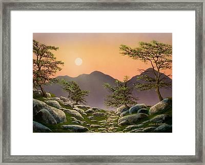 Evening Moonrise Framed Print