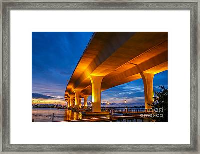 Evening On The Boardwalk Framed Print
