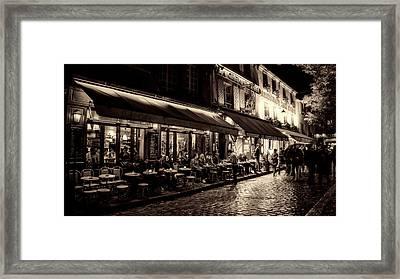 Evening Out - Paris Framed Print