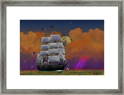 Evening Return For The Elissa Framed Print