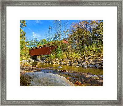 Everett Covered Bridge  Framed Print