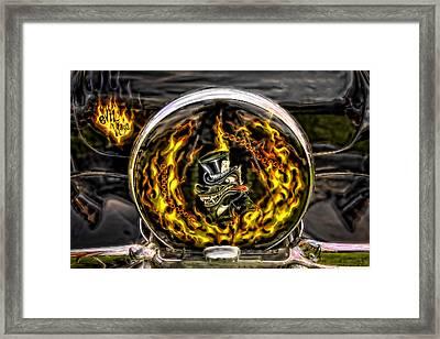 Evil Ways Framed Print by Jerry Golab