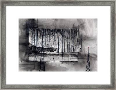 Eviscerating Lines Framed Print