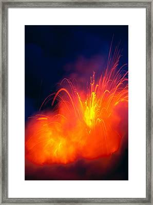 Exploding Lava Framed Print by Greg Vaughn - Printscapes