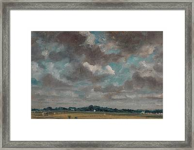 Extensive Landscape With Grey Clouds Framed Print by John Constable
