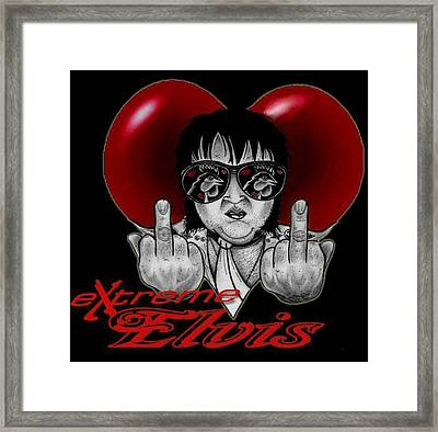 eXtreme Elvis  Framed Print by Ryan Almighty