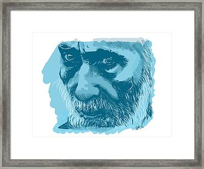 Framed Print featuring the drawing Eyes by Antonio Romero