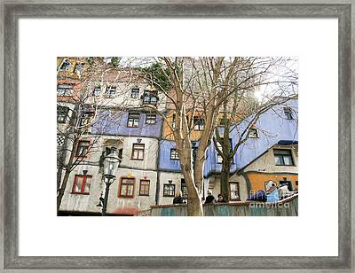 Facade Of The Hundertwasserhaus, Vienna, Austria Framed Print