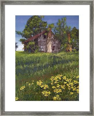 Fairplay Farmhouse Framed Print by Peter Muzyka