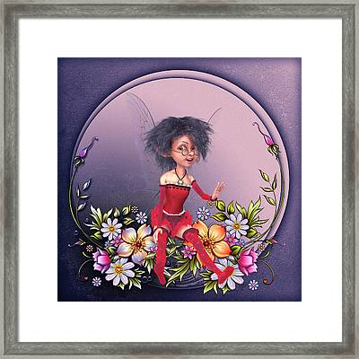 Fairy In The Garden Framed Print