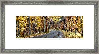 Fall Along Bohemian Road Framed Print