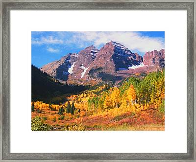 Fall At The Bells Framed Print by Dee Fabian