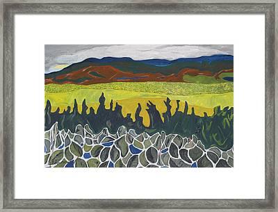 Fall Colours On Mount Megantic Qc  Framed Print