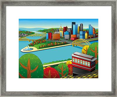 Fall From Above Rendered Framed Print