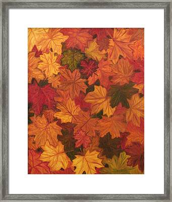 Fall Has Fallen Framed Print by Shiana Canatella