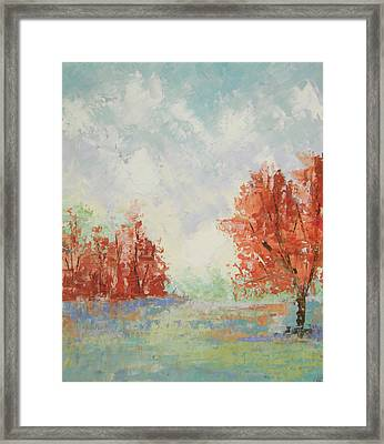 Fall In Provence Framed Print by Frederic Payet