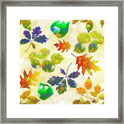 Fall Leaf Pattern Framed Print