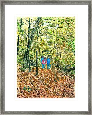 Framed Print featuring the painting Fall Nymphs  by Joel Deutsch