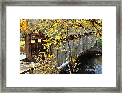 Fallasburg Covered Bridge 8 Framed Print by Terri Gostola