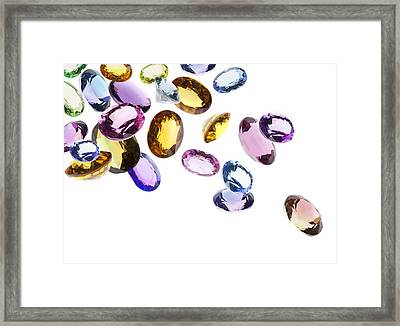 Falling Gems Framed Print
