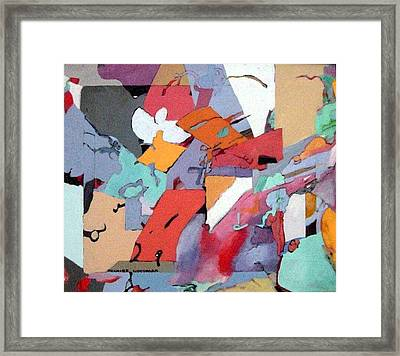 Framed Print featuring the painting Falling Water by Bernard Goodman