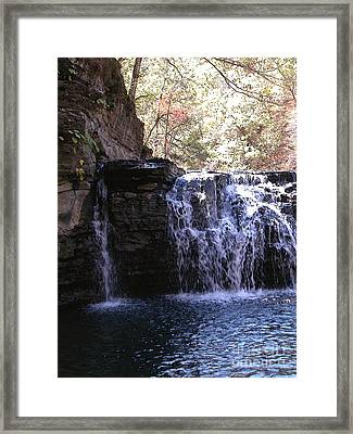 Falls At Richland Creek Framed Print by Steve Grisham