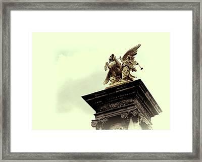 Fames Restraining Pegasus Sculpture Framed Print by JAMART Photography
