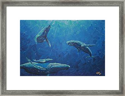 Family Framed Print by Nick Flavin