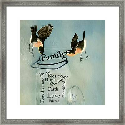 Framed Print featuring the photograph Family by Robin-Lee Vieira