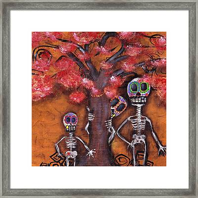 Family Tree Framed Print by  Abril Andrade Griffith