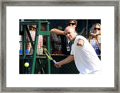 Famous Forehand Framed Print by Anne Babineau