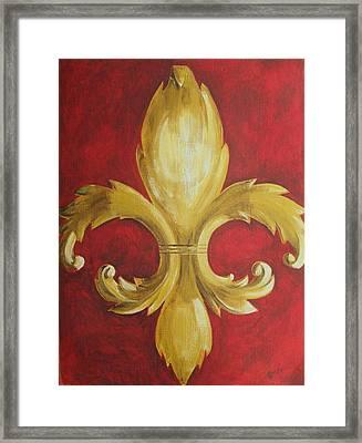 Fancy Fluer De Lis Framed Print by Dana Redfern