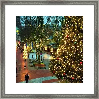 Faneuil Hall Christmas Framed Print