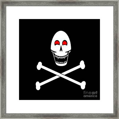 Fanged Jolly Roger Flag Framed Print by Frederick Holiday