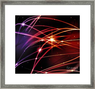 Fantastic Light Line Framed Print
