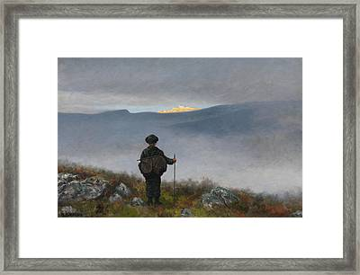 Far, Far Away Soria Moria Palace Shimmered Like Gold Framed Print