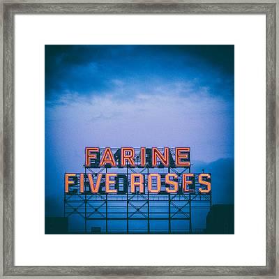 Farine Five Roses Framed Print