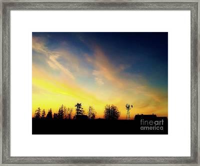 Farmers Sunset Framed Print