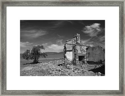 Farmhouse Cottage Ruin Flinders Ranges South Australia Framed Print by PIXELS  XPOSED Ralph A Ledergerber Photography