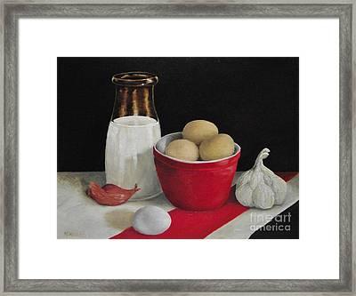Farmhouse Eggs Framed Print