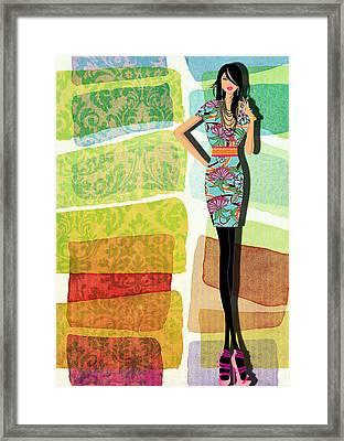 Fashion Illustration Framed Print by Ramneek Narang