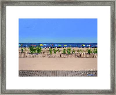 Favorite Beach Framed Print by Elisabeth Olver