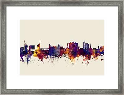 Fayetteville Arkansas Skyline Framed Print