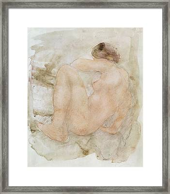 Female Nude Framed Print by Auguste Rodin