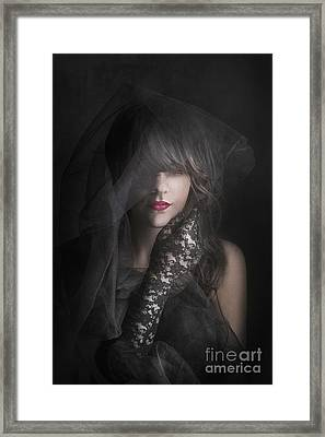 Female Portrait Framed Print by Jelena Jovanovic