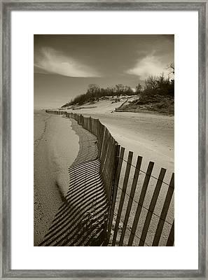 Fence Line Framed Print