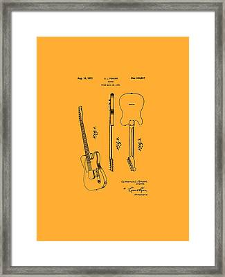 Fender 1951 Electric Guitar Patent Art - B  Framed Print