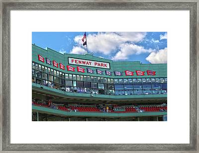 Framed Print featuring the photograph Fenway Park by Mitch Cat